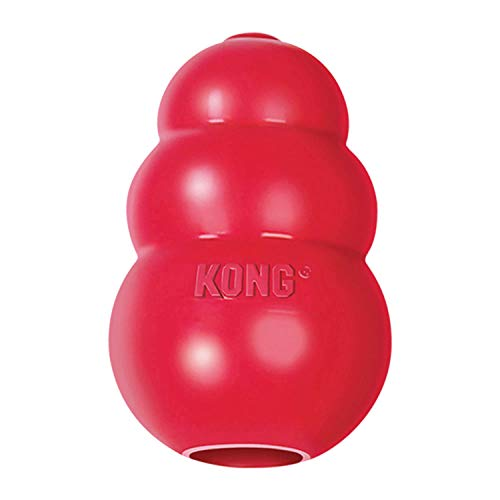 KONG - Classic Dog Toy, Durable Natural Rubber- Fun to...