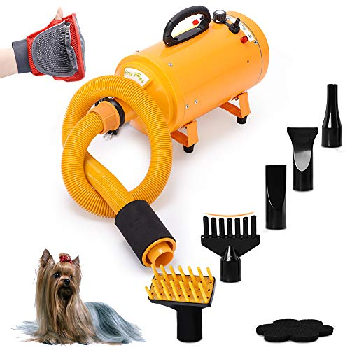 Free Paws Pet Dryer for Dog Cat Hair Blower, Portable...