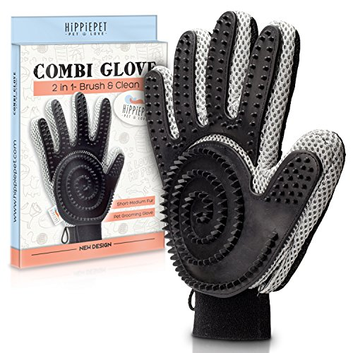 The Combi Glove – Pet Grooming Glove Brush with Dog...
